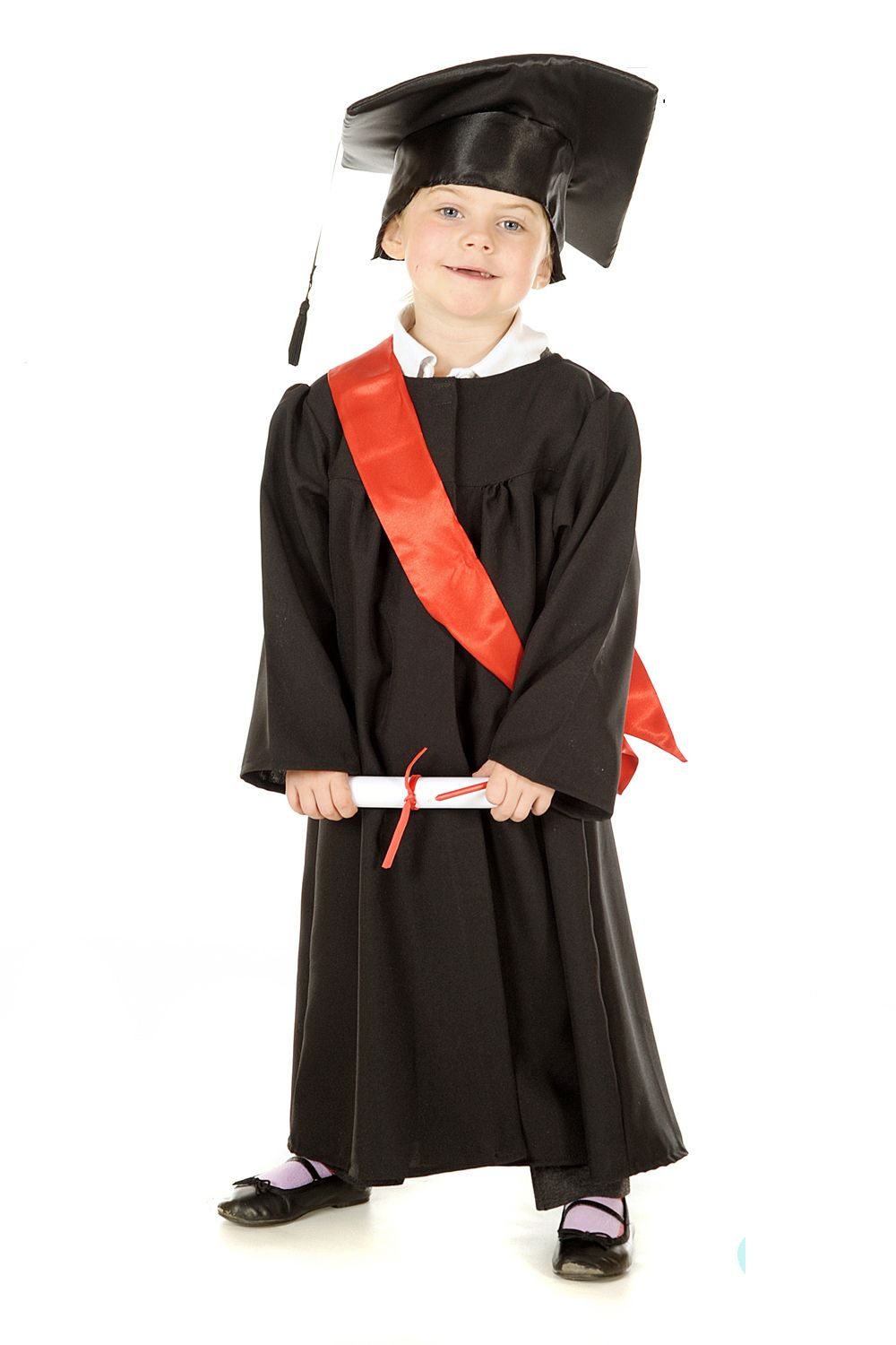 Children s Kids Boys Girls Graduation Gown & Cap Fancy Dress Up ...